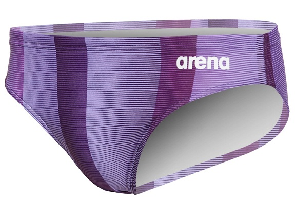 ARENA Men's Blended Stripe Brief - MaxLife (Purple (950))