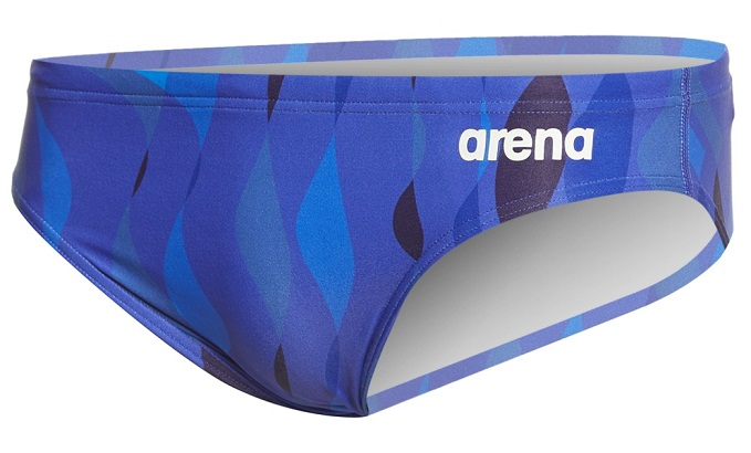 ARENA Men's Wavy Water MaxLife Brief (Navy (700))