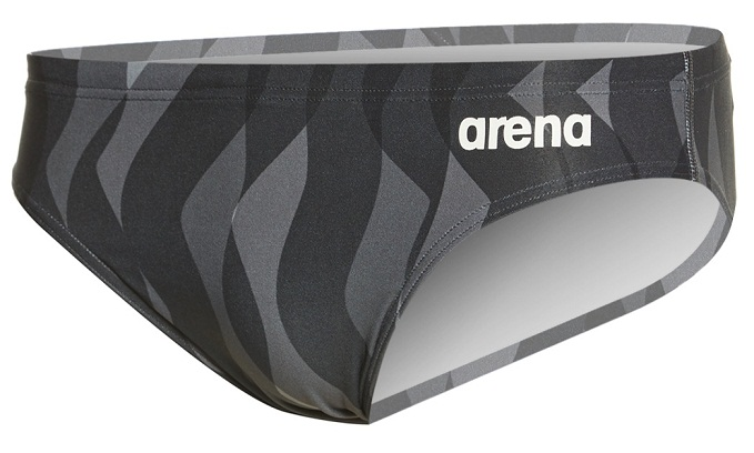 ARENA Men's Wavy Water MaxLife Brief (Black (500))