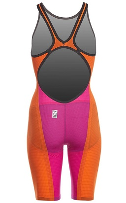 Arena Women's Limited Edition Powerskin Carbon Flex VX Open Back Tech Suit Swimsuit (Orange/Fuchsia (349))