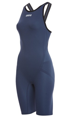 Arena Women's Limited Edition Powerskin Carbon Flex VX Open Back Tech Suit Swimsuit (Navy/Grey/White (541))