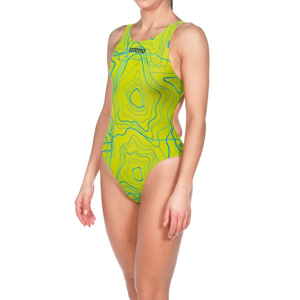ARENA Women's Powerskin ST Classic Suit Short Leg Limited Edition (Sonic Lime (952))