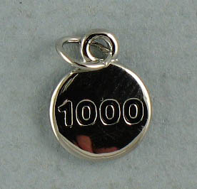 TOTALLY STROKED 1000 Charm (Silver)