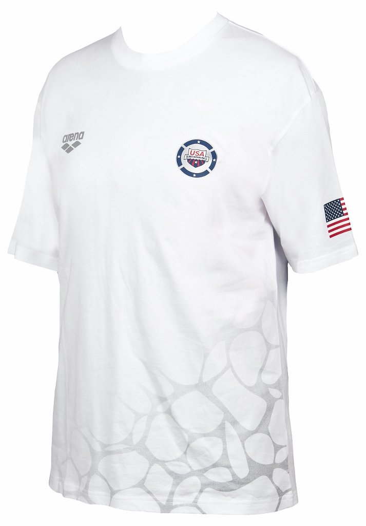 ARENA USA Swimming T-Shirt (White (10))