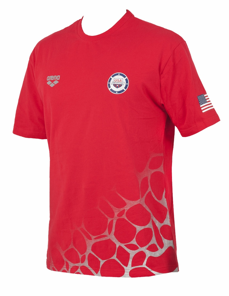 ARENA USA Swimming T-Shirt (Red (40))