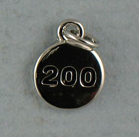 TOTALLY STROKED 200 Charm (Silver)