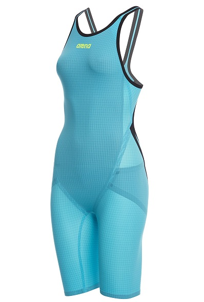 Arena Women's Powerskin Carbon Flex VX - Open Back Kneeskin (Turquoise/Black (805))