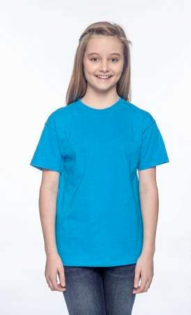 HANES Unisex 6.1 oz. Tagless T‑Shirt - Youth (Teal)