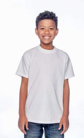HANES Unisex 6.1 oz. Tagless T‑Shirt - Youth (White)