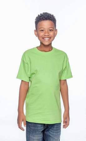 HANES Unisex 6.1 oz. Tagless T‑Shirt - Youth (Lime)