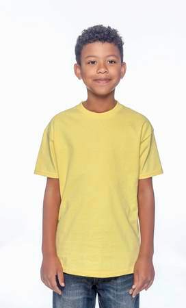 HANES Unisex 6.1 oz. Tagless T‑Shirt - Youth (Yellow)