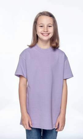 HANES Unisex 6.1 oz. Tagless T‑Shirt - Youth (Lavender)