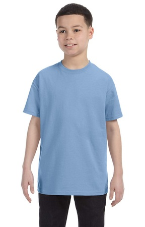 HANES Unisex 6.1 oz. Tagless T‑Shirt - Youth (Light Blue)