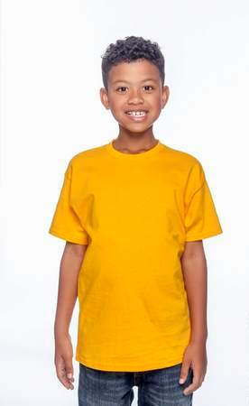 HANES Unisex 6.1 oz. Tagless T‑Shirt - Youth (Gold)