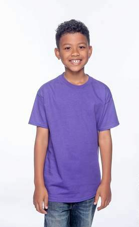 HANES Unisex 6.1 oz. Tagless T‑Shirt - Youth (Purple)