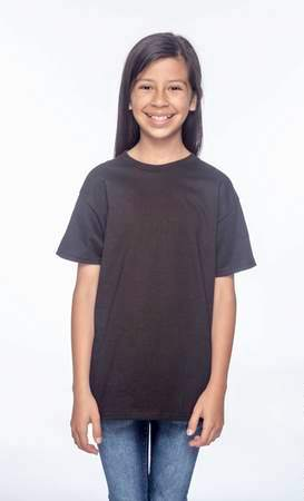 HANES Unisex 6.1 oz. Tagless T‑Shirt - Youth (Black)