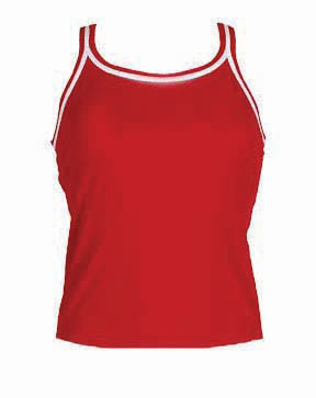 DOLFIN Female Solid Swimsuits (Red (250))