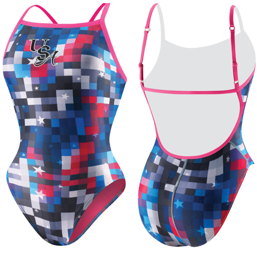 SPEEDO Team USA Starring Pixel Clip Back 1-Piece 7081129