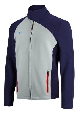 SPEEDO Team Speedo Male Warm Up Jacket (L-XXL Only) (Navy/Grey)