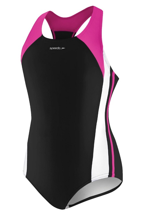 SPEEDO Girls Infinity Splice Xtra Life LYCRA® fiber (7-16) (New Blush (685))