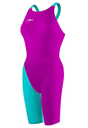 SPEEDO LZR Racer Elite 2 Comfort Strap Kneeskin (Purple Teal (518))