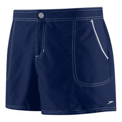 SPEEDO Women's Piped Swim Shorts (Nautical Navy (534))