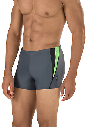 SPEEDO Fitness Splice Square Leg (Charcoal (010))
