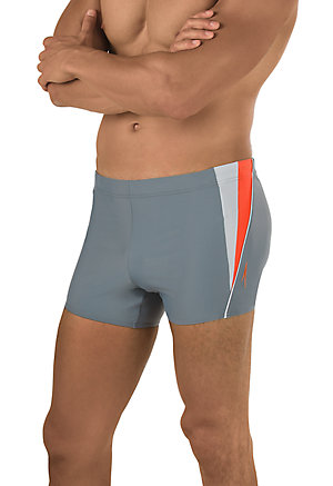 SPEEDO Fitness Splice Square Leg (Grey/Orange (851))