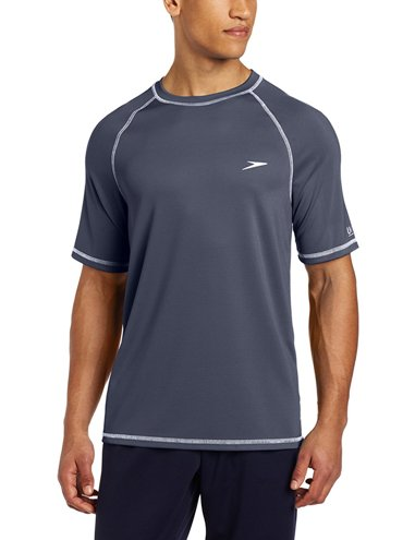 SPEEDO Easy Short Sleeve Swim Tee (Deep Steel (021))