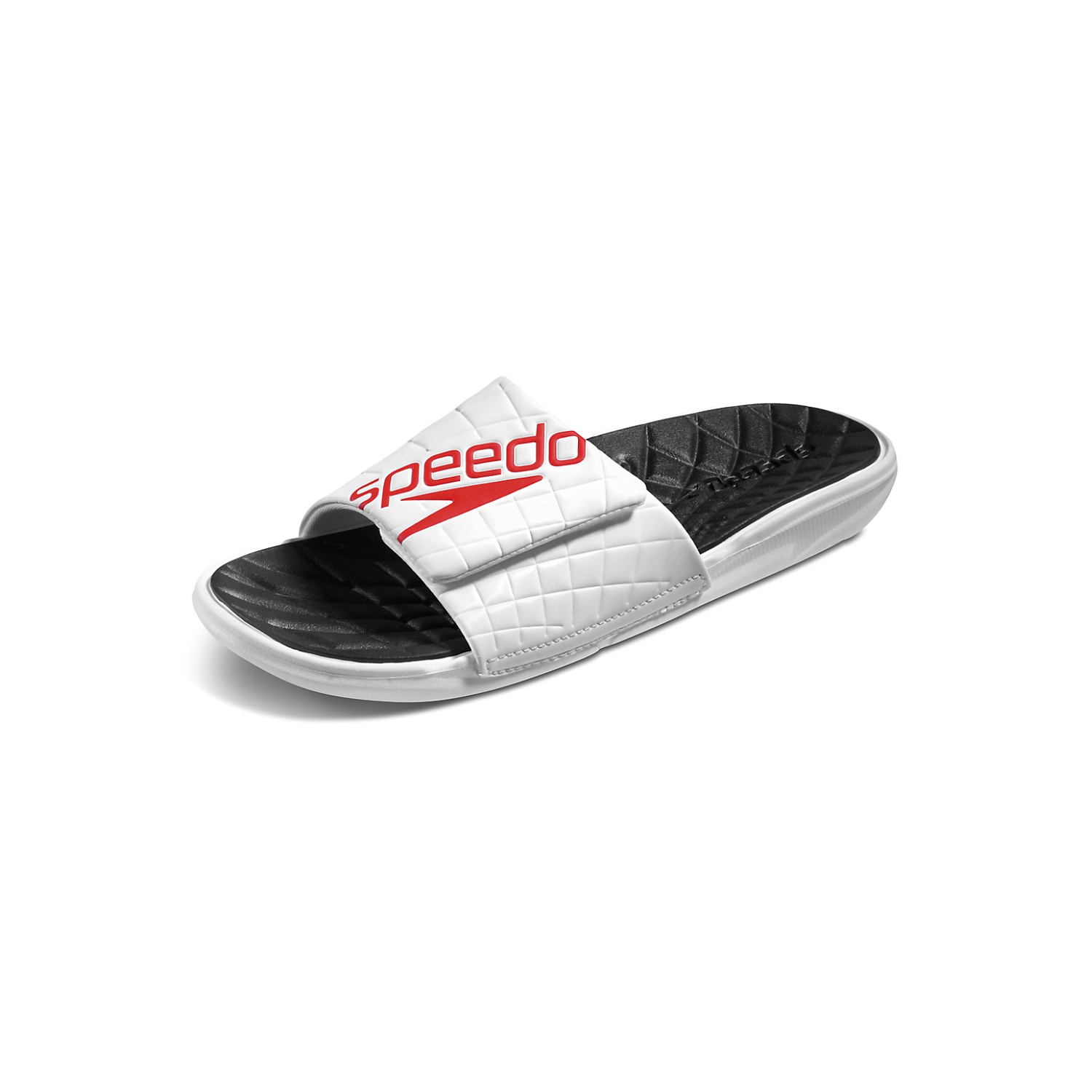 SPEEDO Men's Exsqueeze Rip Slide (White/Black (095))