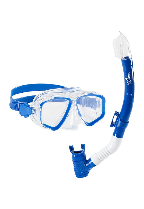 SPEEDO Jr. Adventure Mask & Snorkel Set (Blue Sea (430))