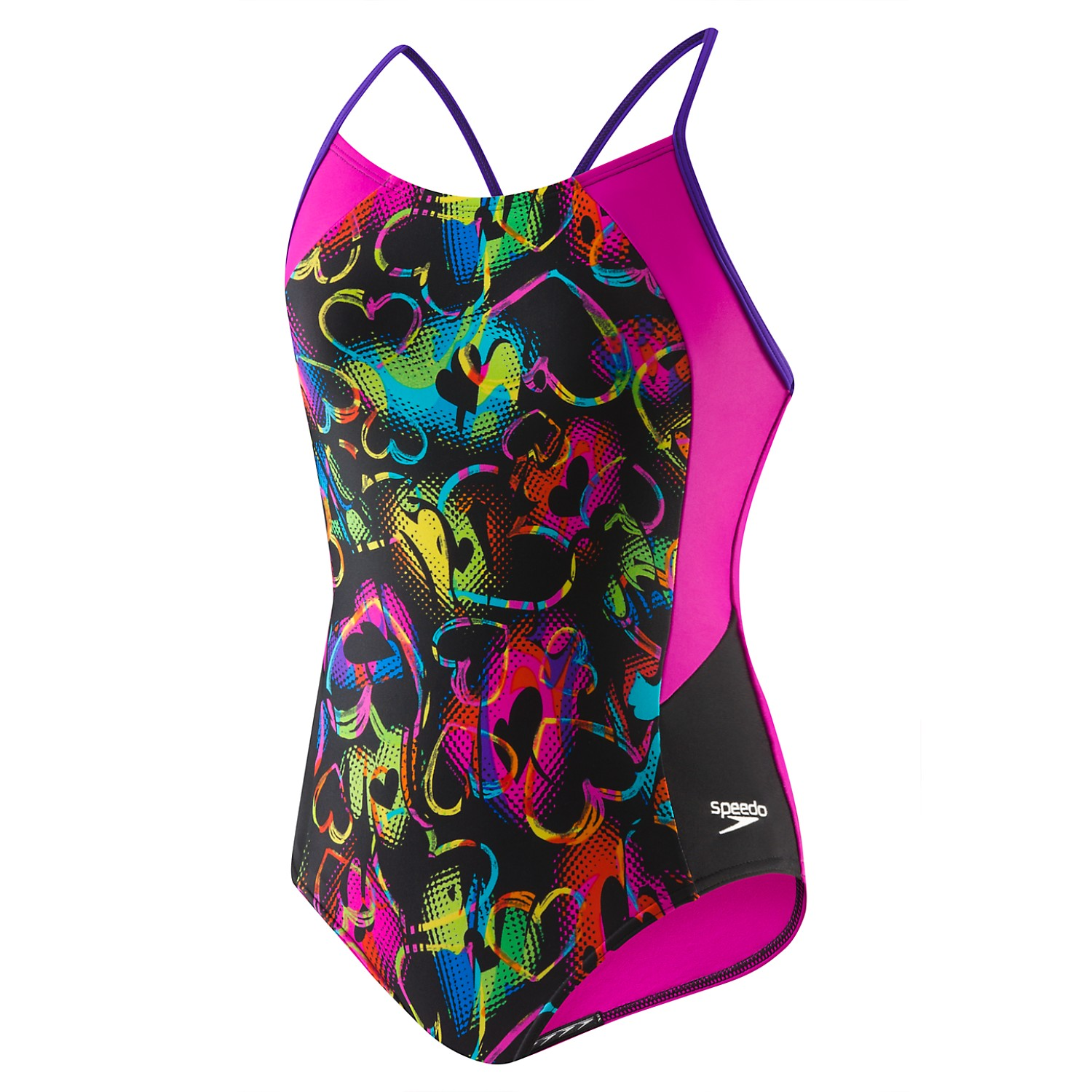 SPEEDO Girls Neon Love Split Splice (7-16) 7714015