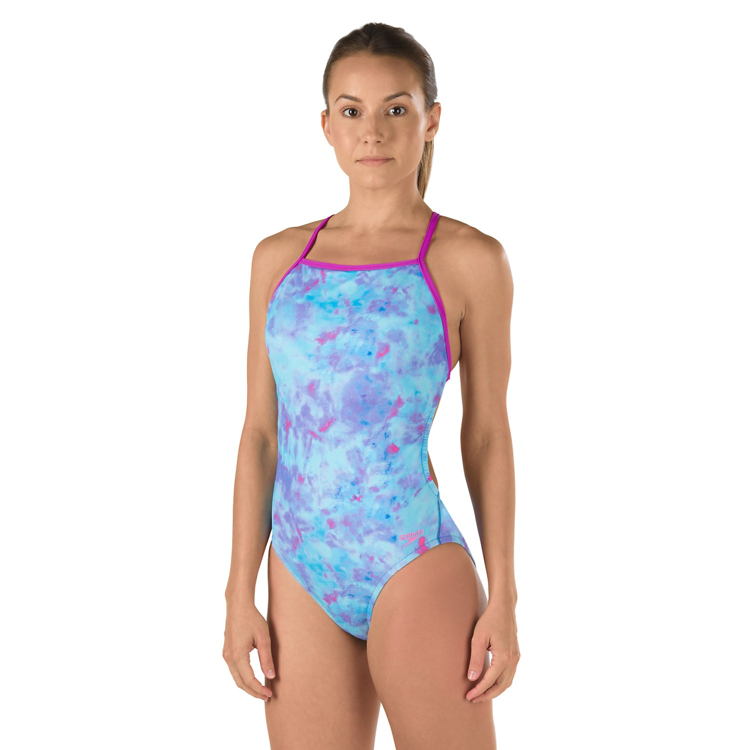 SPEEDO Female Printed One Back (Speedo Purple (502))