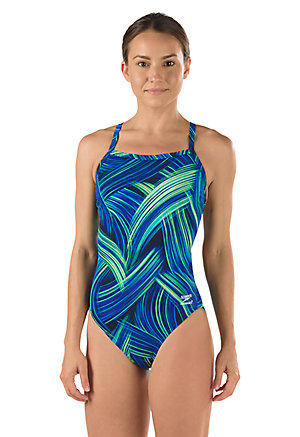SPEEDO Endurance Turbo Stroke Flyback - Youth (Blue/Green (421))