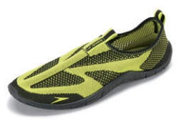 SPEEDO Men's Surf Knit Water Shoe (Black/Sulphur Spring (005))