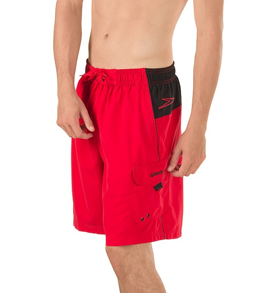 SPEEDO Men's Marina Sport Volley Short  (Speedo Red (601))