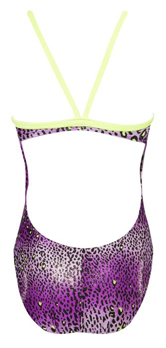 FINALS Women's Funnies Cheetah Wing Back Swimsuit (Purple(24))