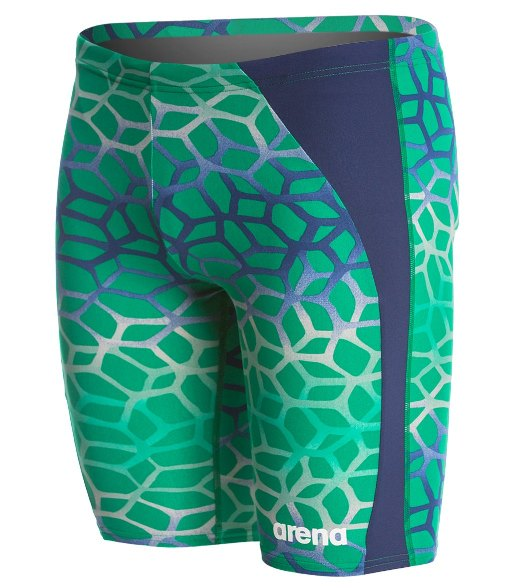 ARENA Polycarbonite II Men's Jammer - MaxLife (Navy/Kelly Green (76))