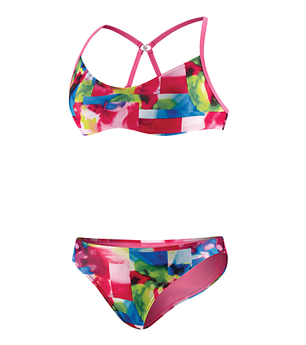 SPEEDO Flipturns Starting Blocks Clip Back 2 Piece (Peony Pink)
