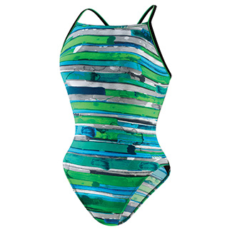 SPEEDO Endurance Color Stroke Flyback(Youth) (Blue/Green)