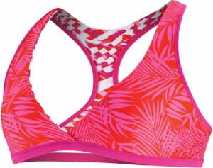 SPEEDO Geo Tropic/Mini Palm Reversible Racerback Top (Hot Magenta (290))