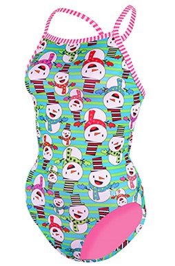 DOLFIN Winter Female Uglies V-2 Back Xmas Print - Snow What Fun 9502L-670