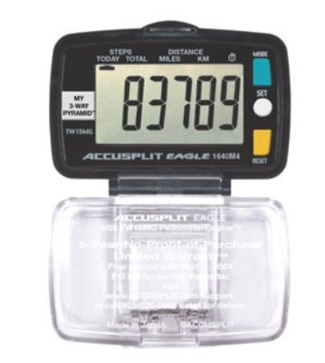 Accusplit Super Thin Multi-Function Pedometer packed in UNIT BOX AE1640M4-XBX