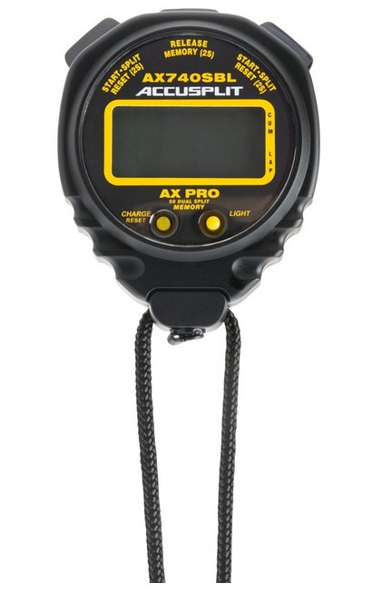 Accusplit AX740-Professional dual split stopwatch with 50 memories AX740