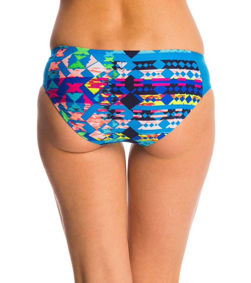 TYR Women's Boca Chica Dash Mesh Bottom (Blue (420))