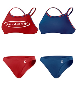 TYR Lifeguard Swimsuits Reversible Double Binding Workout Bikini - Adult BRGD1A