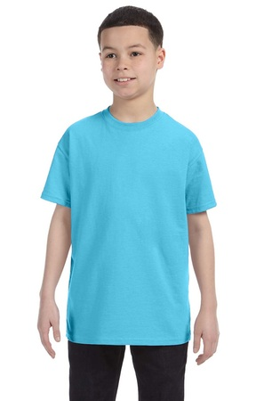 HANES Unisex 6.1 oz. Tagless T‑Shirt - Youth (Blue Horizon)