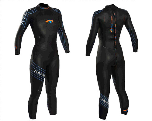 BLUESEVENTY Women's Fusion Full Wetsuit  (Black)