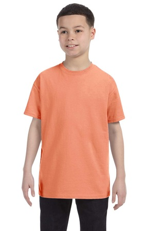 HANES Unisex 6.1 oz. Tagless T‑Shirt - Youth (Candy Orange)