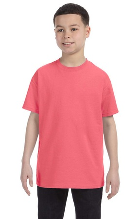 HANES Unisex 6.1 oz. Tagless T‑Shirt - Youth (Charisma Coral)
